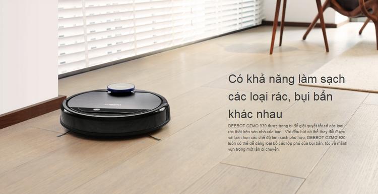 Robot hút bụi OZMO 930 xóa sạch bụi bẩn